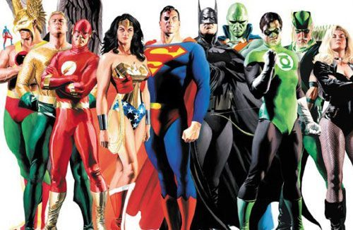 Justice League group vintage by Brain Boland
