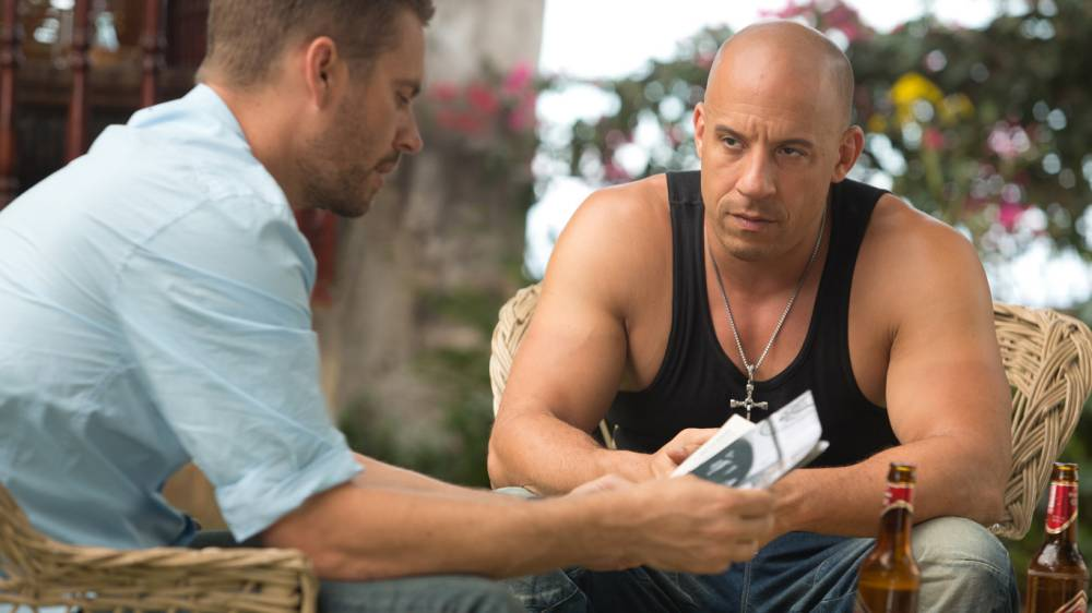 Film: The Fast & furious 6 (2013). With Paul Walker (DEAD 11/2013) and Vin Diesel.