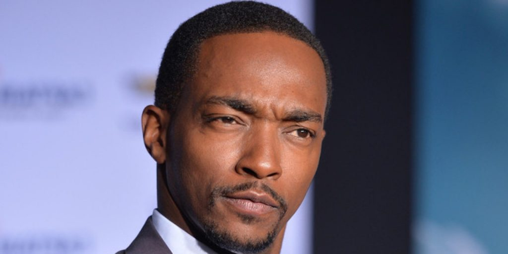 """HOLLYWOOD, CA - MARCH 13: Actor Anthony Mackie attends Marvel's """"Captain America: The Winter Soldier"""" premiere at the El Capitan Theatre on March 13, 2014 in Hollywood, California. (Photo by Alberto E. Rodriguez/Getty Images for Disney)"""